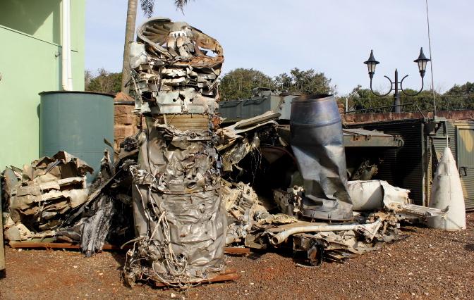 Aeronave acidentada caça AMX – A1B