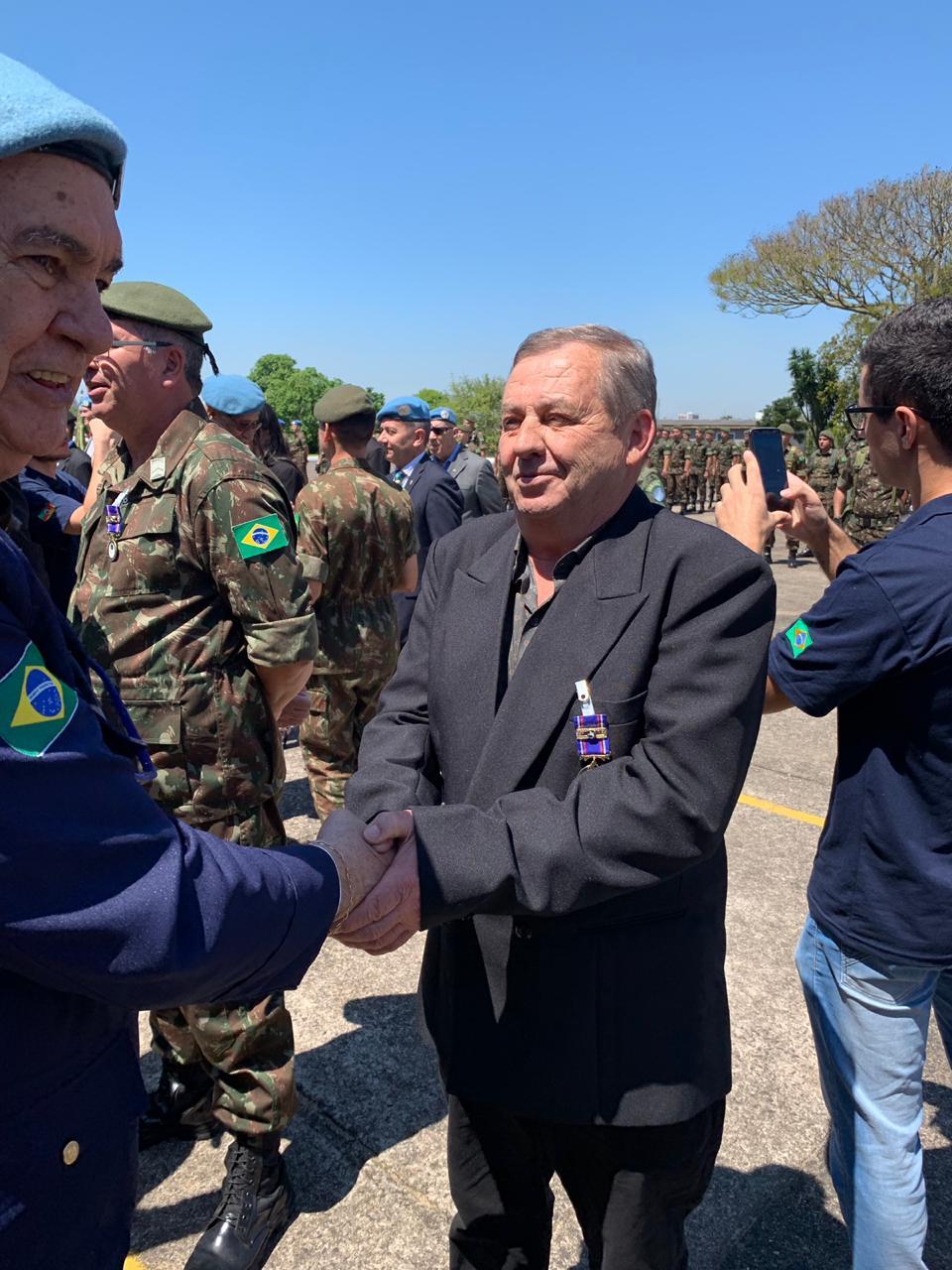 Recebimento medalhas – Dia da ONU e retorno 13º Contingente Batalhão de Suez